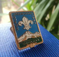 12th Boy Scout World Jamboree 1967 Idaho Neckerchief / Scarf SLIDE or WOGGLE