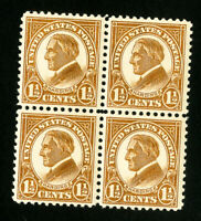 US Stamps # 553 Superb OG NH Block of 4