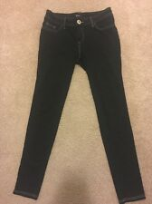GUESS WOMENS LEGGING JEGGING SIZE 28 BLACK WITH WHITE TRIM