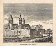 """PARIS """" SAINT-GERMAIN-DES-PRES """" GRAVURE ENGRAVING 1853"""