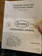 Scotts S2048 and S2554 S2348 Tractor Operators Manual