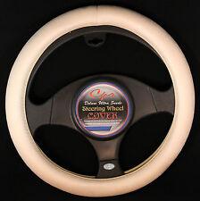 "Deluxe Ultra Suede Steering Wheel Cover in Cream Fits 14.5-15.5"" Wheel CS 0127"