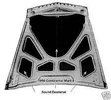 1956-57 Continental Mark II Hood Trunk Insulation Sound Deadener Waffle Pattern
