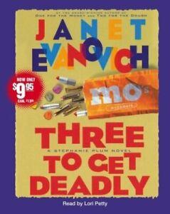 Three to Get Deadly by Janet Evanovich Audiobook 3 CDs Stephanie Plum Novel