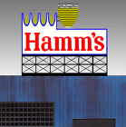 Hamm's Neon Sign O/HO Scale MILLER'S ENGINEERING # 88-3451
