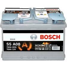 Autobatterie Bosch S5A08 Start-Stop 12V 70Ah 760A AGM Starterbatterie 0092S5A080