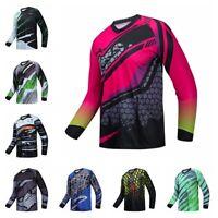 Men Cycling Jersey Downhill Shirt Long Sleeve Bike Motorcycle Bicycle Clothing