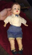 """Antique Effanbee ? Baby Doll 18"""" Composition large boy or girl Vintage German ?"""