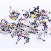 100 Miniature Model Z Gauge 1:200 Scale People for DIY Figure Building Layout
