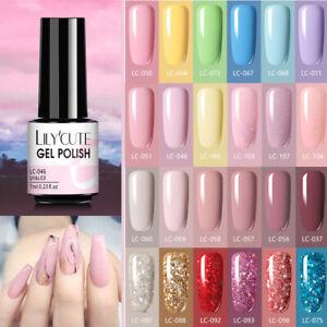 6 Colours Set LILYCUTE UV Nail Gel Polish Soak off Gel Varnish Base Top Coat Gel