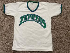 Vintage Denver Zephyrs Coors White Large USA Made Ringer Jersey NWOT VTG