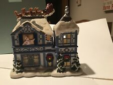 Partylite Twas The Night Before Christmas Musical Tealight Ceramic House