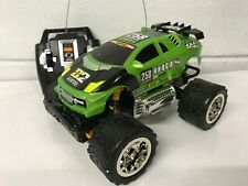 Monster Truck Radio Remote Control Car Fast Speed Green Orange New Boxed Uk