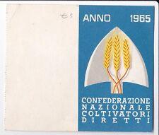 TESSERA 1965 CONFEDERAZIONE NAZIONALE COLTIVATORI DIRETTI 21-193