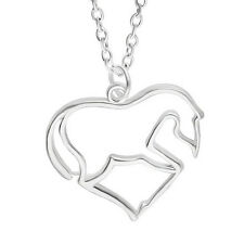 Fashion Jewelry Animal Horse Zinc Alloy Chain Pendant Necklace for Men Women EP