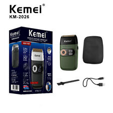 KM-2026 Electric Shaver for Men Twin Blade Waterproof Reciprocating Cordless Raz