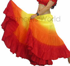 25 yards yard Belly Dance Dancing Cotton Folk Skirt American Style Shaded