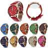 Women's Watch Geneva Faux Leather Wrist Watch Roman Numerals Analog Quartz UK