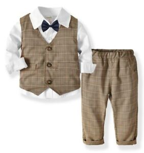 Baby/ Boy/ 4 PIECE Waistcoat Suit Kids Suit Smart Outfit set