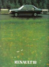 Renault 18 Saloon GTS TS GTL TL TD 1980-81 Original UK Market Brochure 20.107.07