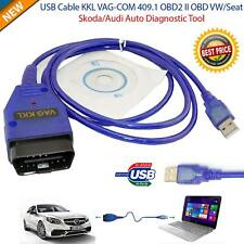USB Cable KKL VAG-COM 409.1 OBD2 EOBD Diagnostic Scanner BMW VW Audi Seat VCDS