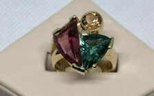 Lady's 14kt Yellow Gold Tourmaline & Yellow Topaz Ring Size 7 with GAL Appraisal