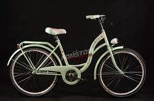 "26"" Women's City Bike Vintage Style Dutch Town Bikes Basket VANESSA Mint"