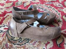 ANTELOPE Women's Leather Wedges Mary Jane - Sz US 7, EU 37