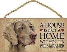 Weimaraner Wood Dog Sign Wall Wall Plaque Photo Display 5 x 10 + Bonus Coaster