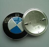 2x 82MM Hood Bonnet Emblem Front Badge Logo Trunk for BMW E30 E36 E46 E60 E38 X5