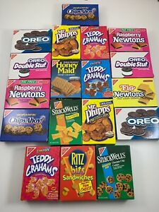 VTG Realistic Faux Play Fake Food Replica Nabisco Chips Ahoy Box PROP Oreo Lot