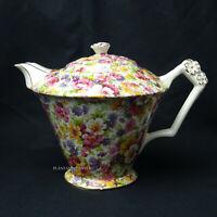 James Kent Du Barry Pattern Chintz Diamond Shape Teapot
