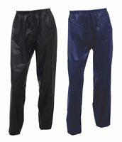 Mens Waterproof Over Size Rain Pants Womens Stretchy Plain Casual Wear Trousers