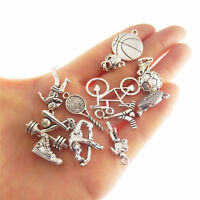 Pack of 15 Vintage Alloy Mini Sports Goods Charms Pendant DIY Jewellery Making