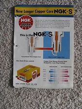NGK Spark Plugs New Longer Copper Core NGK-S Brochure & Conversion Chart
