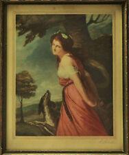 Signed Print Edward William Stodart 1841-1941 Diana the Hunt Goddess 1912 Framed