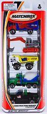 Matchbox Construction Heroes 5 Pack 2001 NEW Isuzu Atlas Faun Peterbilt Ford