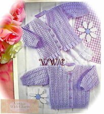 Vintage Knitting Pattern Baby's & Childs Round Neck & V-Neck Cardigan. 6 Sizes