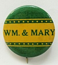 "1940's - 1950's WM. & MARY University football larger size 1.5"" pinback button ^"