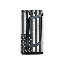 Skin Decal for Smok Alien 220W Vape / Black White Grunge Flag USA America