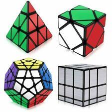 4 Pack Magic Cube Set Bundle 3x3 Pyramid Megaminx and Mirror Cube Speed Puzzle