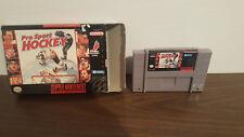 Pro Sport Hockey (Super Nintendo Entertainment System, 1994) Cart & case only