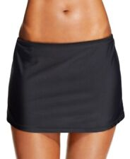 Island Escape Swim Skirt Sz 8 Solid Black Skirtini Swimwear Style M763441