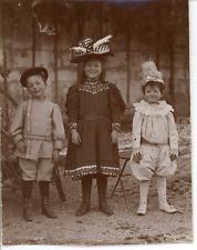 Déguisement, vers 1900 Vintage silver print Tirage argentique  9x12  Circa