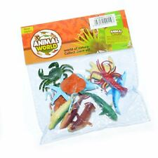 12 Plastic Ocean Animals Figures Sea Creatures Toys Party Bag Fillers Loot Goody