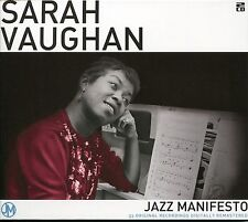 SARAH VAUGHAN JAZZ MANIFESTO - 2 CD BOX SET - SHUILE A BOP, ALL OF ME & MORE