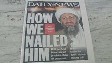 "NEW YORK DAILY NEWS- MAY3,2011--""HOW WE NAILED HIM- BIN LADEN KILLED PAPER"