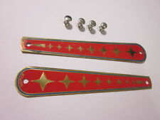 Lambretta Super Brass Forklink Boot Cover Badges TV175 SX200 Ulma Vigano 003