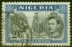 Nigeria 1938 2s6d Black & Blue SG58 P.13 x 11.5 Fine Used