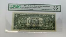 1977 A $1 Federal Reserve Note Richmond PMG 35 - Offset Printing Error